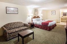 Guest room with sofa sleeper | Rodeway Inn near Beale Street | Memphis, TN