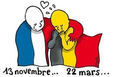 Hommages en dessins aux victimes des attentats de Bruxelles