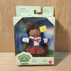 """1995 CABBAGE PATCH KIDS Collectible 4.5"""" DOLL ~ African-American Pleasance ~ NEW #Mattel #Doll #CabbagePatch #AfricanAmerican"""