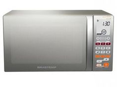 Micro-ondas Brastemp Ative! BMT45 30L Inox - Função Grill e Adiar Preparo