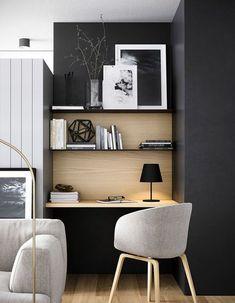 Home Office Space, Office Workspace, Home Office Design, Home Office Decor, House Design, Home Decor, Office Ideas, Office Nook, Office Designs