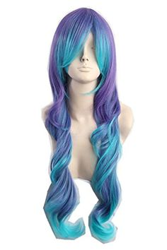 Women's Long Curly Cosplay Wig Teal Blue Purple Two Tone Fiber Hair 25 Inch Topcosplay http://www.amazon.com/dp/B00NPTPD14/ref=cm_sw_r_pi_dp_l7JHvb12ZC0BH