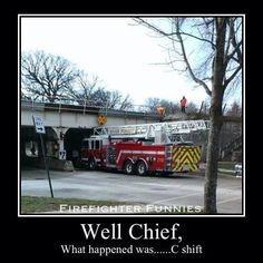Fire Apparatus, took the wrong road, insufficient clearance for the truck! Bridge Too Low!!! By about 3 feet??? Clipped the Ladder Right to the Turn  Table?