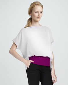 Goya Colorblock Top by Diane von Furstenberg at Neiman Marcus.