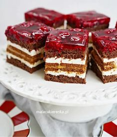 Sweet Recipes, Cake Recipes, Good Food, Yummy Food, Sweet Bakery, Polish Recipes, Cake Cookies, No Bake Cake, Food To Make