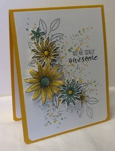 Totally Awesome by razldazl at Splitcoaststampers. Grateful Bunch, Gorgeous Grunge stamp sets