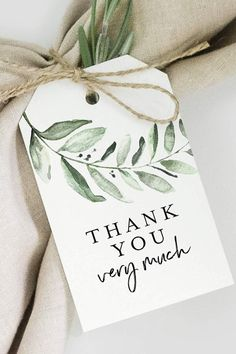 Bliss Collections Greenery Favor Thank You Tags - Perfect for: Wedding Favors, Baby Shower, Bridal Shower, Birthday or Special Event - 50 Pack Bridal Shower Favors, Wedding Favors, Party Favors, Wedding Favor Labels, Party Games, Thank You Tags, Thank You Gifts, Diy And Crafts, Paper Crafts