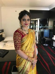 Bhuwi by Bhargavi reddy Wedding Saree Blouse Designs, Pattu Saree Blouse Designs, Blouse Designs Silk, Designer Blouse Patterns, Pattu Sarees Wedding, Bridal Sarees, Elegant Saree, Indian Designer Wear, Blouse Styles