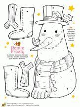 Christmas puppet tenderness frosty snowman