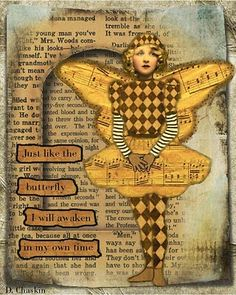 """Just Like the Butterfly- I like this for a layout & put someone's head on the butterfly & change the last line to """"God's perfect time"""""""