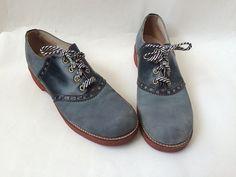 Vintage Saddle Shoes Blue Spectator by Baxtervintage on Etsy