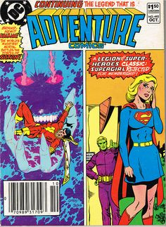 October 1982 Stories featuring: Shazam Supergirl & the LSH Superboy & the LSH Aquaman Black Canary The Sandman The Spectre Cover art by Keith Giffen and Mike DeCarlo (inks) Rare Comic Books, Vintage Comic Books, Vintage Comics, Comic Book Covers, Comic Books Art, Planet Comics, Comics Universe, Archie Comics, Fun Comics