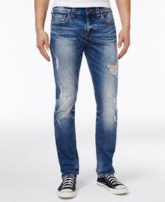 629b5f0f True Religion Men's Rocco No Flap Ripped Skinny-Fit Stretch Jeans Men -  Jeans - Macy's