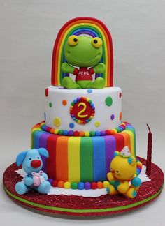 Sapo Pepe Cake by Violeta Glace Frog Cakes, Cata, Little Boys, Wedding Cakes, Birthdays, Birthday Cake, Baby Shower, Desserts, Rey