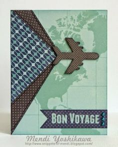 Snippets By Mendi: Jillibean Soup Card Kitchen Club Bon Voyage Card.