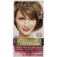 L'Oreal Paris Excellence Creme Triple Protection Color 6 Light Brown/Natural by L'Oreal Paris * Want additional info? Click on the image. (This is an affiliate link and I receive a commission for the sales) #HairColor