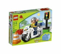 LEGO LEGOVille Police Bike 5679 by LEGO City. $9.76. Flash light. Accessories include traffic light and traffic cone. Includes policeman with new helmet. 8 elements. DUPLO® bricks. From the Manufacturer                The busy policeman drives around town on his motorbike making sure the traffic moves along and everyone is safe. He also makes sure that people stop when the light is red.                                    Product Description                LEGO ...