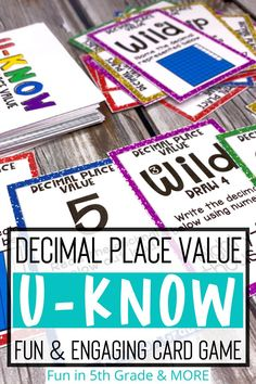 Decimal place value has never been so engaging! Your students will love this math card game that is easy to learn and can be played over and over again! This math game is perfect for math centers / stations, early finishers, or small group