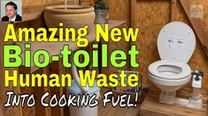 Bio-toilet with Home Biogas Plant Turns Human Poo Waste Into Fuel