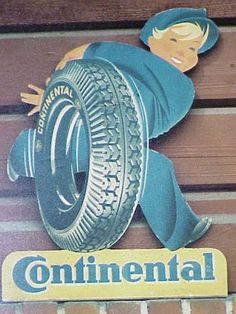 Since Continental has developed intelligent technologies for transporting people and their goods. Intelligent Technology, Flag Signs, Home Office Setup, Gas Pumps, Metal Signs, Vintage Signs, Tired, Transportation, Classic Cars