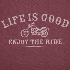 Men's Enjoy The Ride Motorcycle Short Sleeve Crusher Vee | Life is good
