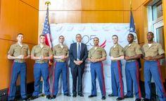 Deputy Secretary Andrews with U.S. Marines stationed in Astana, Kazakhstan