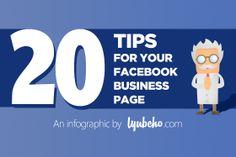 20 tips para su negocio en facebook http://lyubcho.com/20-tips-for-your-facebook-business-page-infographic/