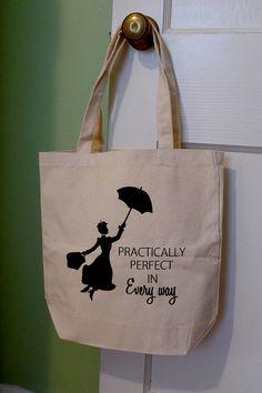 Mary Poppins tote bag, Mary Poppins, sac Disney, Disney, pratiquement parfaite dans tous les sens, parfait, Marry Poppins fourre-tout, sac fourre-tout