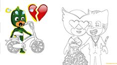 Pj Masks Catboy Love Owlette Coloring Page - Free Coloring Pages Online Pj Masks Coloring Pages, Avengers Coloring Pages, Marvel Coloring, Mermaid Coloring Pages, Easy Coloring Pages, Coloring Pages For Girls, Mandala Coloring Pages, Animal Coloring Pages, Coloring Books