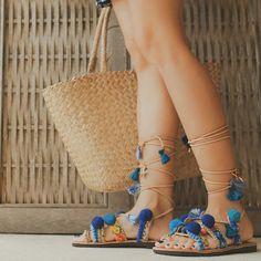 08c5193c02f Handmade Sandals  Blue Sapphire