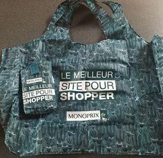 Le cactus - sac Monoprix j'adore les courses en sac Eiffel Tower shopping bag tote  Monoprix
