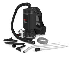 Rubbermaid Commercial Executive Series Backpack Vacuum Cleaner, 8-Amp, 6-quart (1868433)