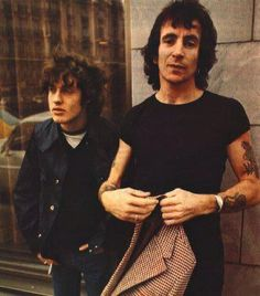 Angus Young and Bon Scott 1978