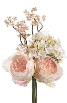 f199bb6200 Peach Tea Roses and Hydrangea Bouquet Church Wedding Flowers