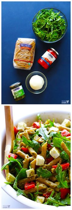 5-Ingredient Pasta Salad -- perfect for picnics, potlucks, or even just a regular weeknight dinner #healthy #pastasalad