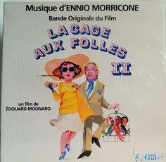"""CAGE AUX FOLLES II  12"""" VINYL LP MINT ORIGINAL SOUNDTRACK FRENCH IMPORT(1980, ENNIO MORRICONE MUSIC)"""