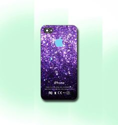 Purple Sparkle Apple  iPhone 4/4S case iPhone by CaseByViona, $13.99