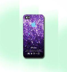 Purple Sparkle Apple  iPhone 4/4S case iPhone by CaseByViona, $13.99