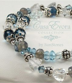 London Blue Topaz Crystal Quartz Labradorite and by SunStones, $135.00