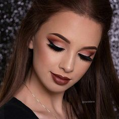 #maybelline - ig:denitslava  looks gorgeous wearing lasting drama gel eyeliner to wing out her warm fall look.  #mnyitlook - #beauty #makeup #cosmetics #eyeliner #eyeliners