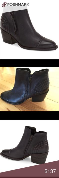 "Paul  Green black booties size 7 Beautiful leather black bootie. Crisp piping stands out at the heel and cap toe of a Western-inspired ankle bootie shaped from oiled Italian leather. 2 1/2"" heel. 3"" boot shaft. Side zip closure. Leather upper and lining/synthetic sole. By Paul Green; made in Austria. Women's Shoes. No shoe box or bag. 4.5 UK. 7USA. No holds no trades please!! Paul Green Shoes Ankle Boots & Booties"