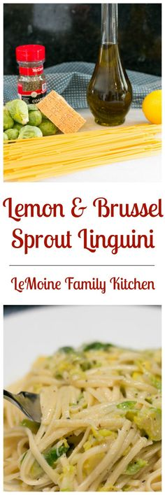 Personalized Graduation Gifts - Ideas To Pick Low Cost Graduation Offers Lemon and Brussel Sprout Linguini - Lemoine Family Kitchen Low Fat Chicken Recipes, Pasta Recipes, Rice Recipes, Dinner Recipes, Yummy Noodles, Artichoke Recipes, Family Kitchen, Easy Delicious Recipes