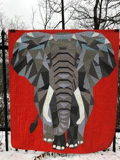 Elephant abstractions by violet craft. Michael miller fabrics