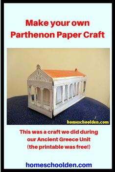 Parthenon Paper Craft We made this Parthenon during our Ancient Greece Unit. This was a free printable we found. Looks pretty cute, right? Ancient Greece Crafts, Ancient Greece Lessons, Ancient Greece Clothing, Ancient Greece Fashion, Ancient Greece For Kids, Greece Architecture, Ancient Greek Architecture, Parthenon Greece, Greece Mythology