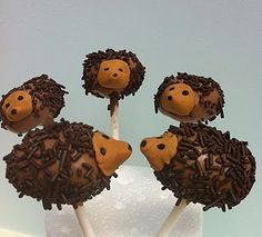 Hedgehog Cake Pops