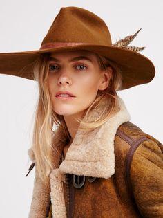 Fallon Felt Hat at Free People Clothing Boutique Bohemian Girls, Bohemian Style, Boho Chic, Free People Clothing, Clothes For Women, Felt Hat, Wool Felt, Boho Beautiful, Mode Boho