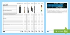 Character Activity Sheets - The Woman in Black, revision, exam, characters, Keckwick, Arthur Kipps, Sam Daily, Mr Jerome, Jennet
