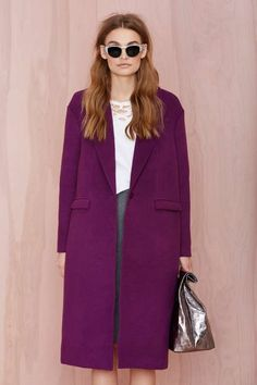Cameo No Light Wool Coat - Jackets + Coats