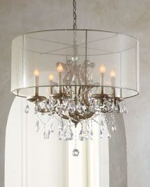 H54JL John-Richard Collection Veiled Shade Chandelier