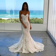 Mermaid wedding dress: the 50 are the most beautiful - wedding dresses- ladies fashion.de - wedding dress mermaid wedding dress: The 50 are the most beautiful Best Picture For fashion inspo - Wedding Dress Mermaid Lace, Mermaid Dresses, Bridal Lace, Dream Wedding Dresses, Bridal Dresses, Modest Wedding, Strapless Lace Wedding Dress, Bridesmaid Dresses, Lace Gowns